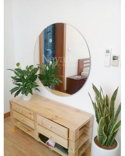 Gương tròn treo tường trang trí decor phòng khách
