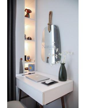 Gương bàn trang điểm treo tường decor hình rẻ qoạt