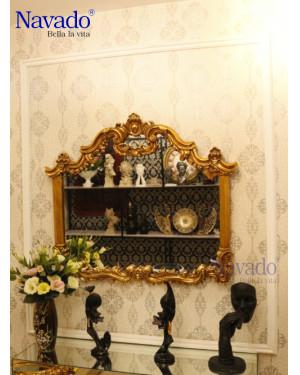 Gương decor tân cổ điển phòng khách Morpheus