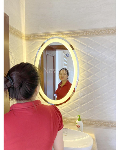 Gương Elip phòng tắm đèn Led cao cấp