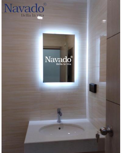 Gương phòng tắm cao cấp hình chữ nhật