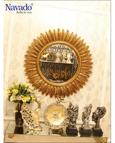 Gương khung tân cổ điển treo tường phòng khách Gea