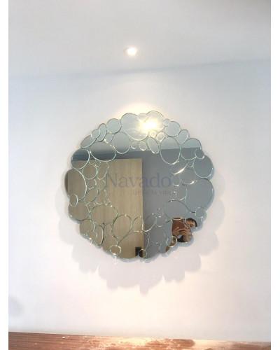 Gương decor nghệ thuật cao cấp phòng khách