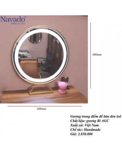Gương decor trang điểm để bàn
