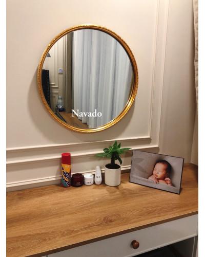 Gương bàn trang điểm oras viền vân