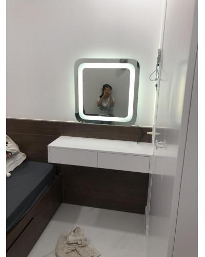 Gia công gương trang điểm đèn led Hà Nội