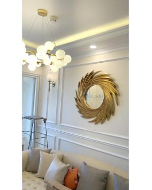 Gương treo tường nghệ thuật phòng khách Hà Nội