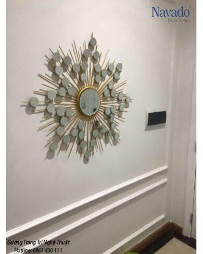 Gương phòng khách treo tường Hebes