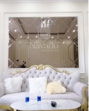 Gương ghép trang trí dán tường nội thất
