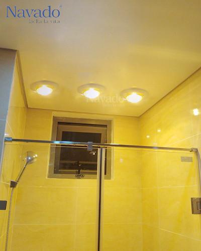 Đèn sưởi 3 bóng âm trần phòng tắm mùa đông
