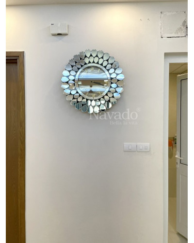 Đồng hồ decor treo tường White peacock